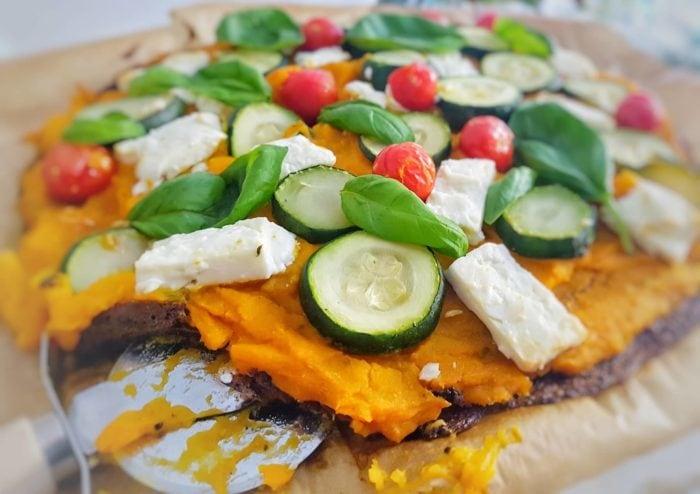 Feta, Veggie Pizza With Pumpkin Puree