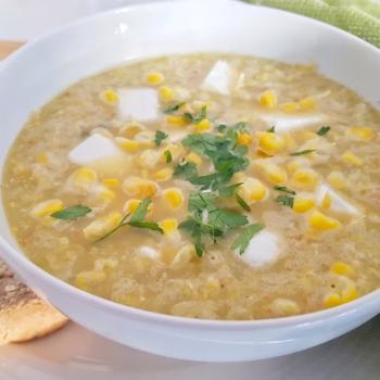 Easy sweetcorn soup recipe